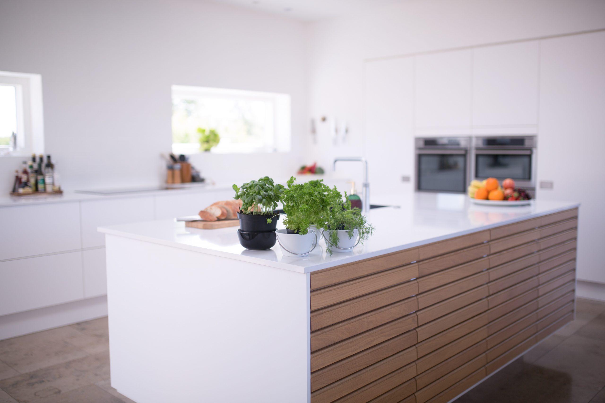 cocina moderna ordenada
